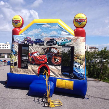 Cars Large Bounce House Live