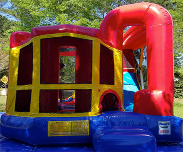 Backyard Combo Bounce House Slide