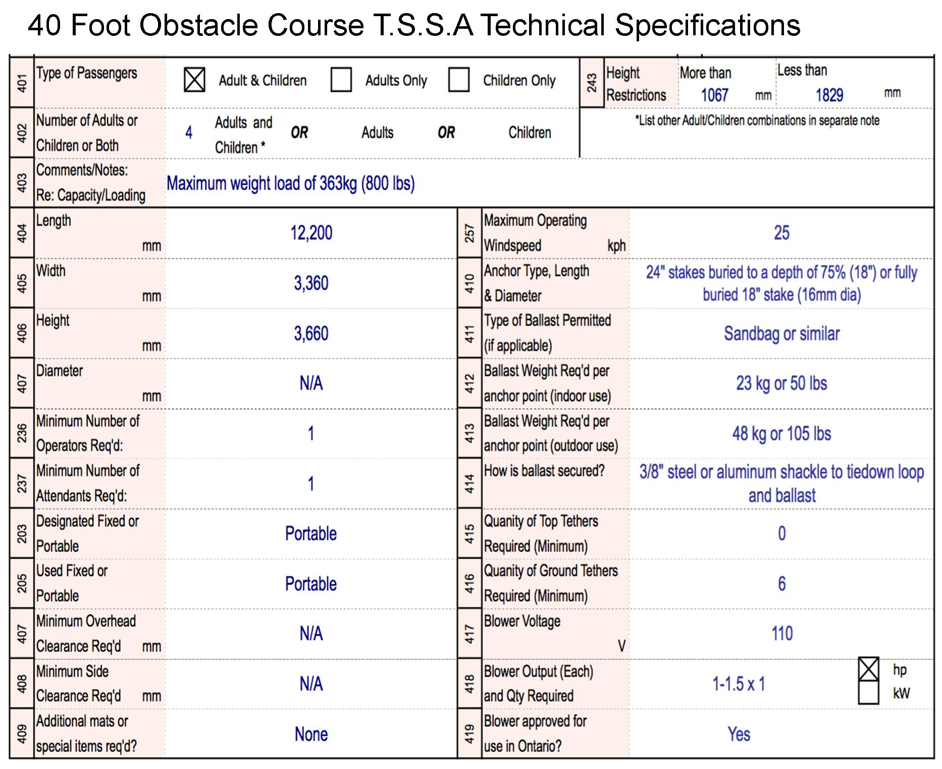SPECS 40 Foot Obstacle Course compressed