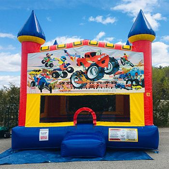 Classic Large Bounce House Monster Truck Theme