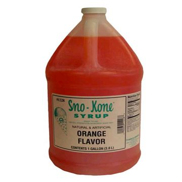 Orange Sno Kone Syrup 4L Jug