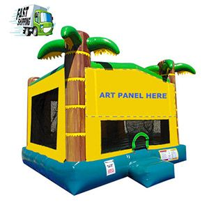 Tropical Large Bounce House Rental