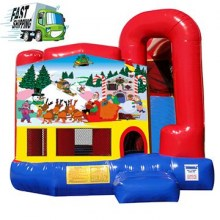 Christmas Combo Bounce House with Slide