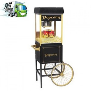 8 Oz Popcorn Machine with Cart